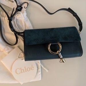 Chloe Leather Suede Mini Faye Crossbody Bag Wallet